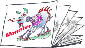 Bilderstapel Monster W
